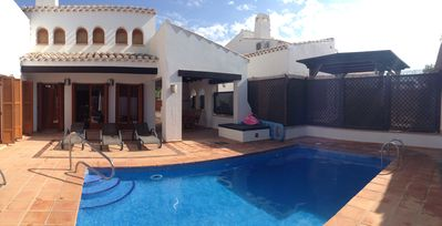 Rear of Villa with private pool and WiFi