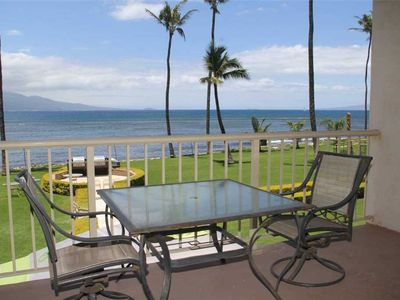 Photo for MK213 - Maui Ocean Front Vacation Rental Condo in Quiet Resort—Spectacular Ocean View; GREAT VALUE