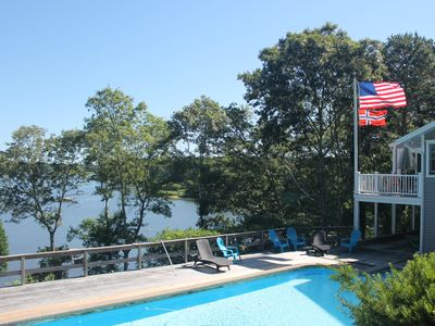 Photo for Bay Front + Pool. SUP's, Kayaks, Bikes, A/C, Vehicle Beach Pass and Pets ok !