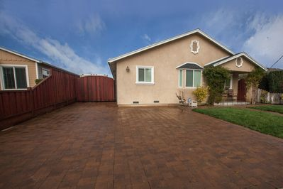 Dedicated off-street parking in a beautifully paved driveway