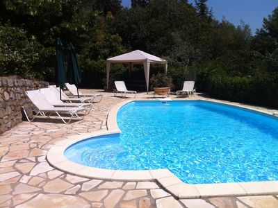 Photo for Heated pool, gas BBQ, stunning views, close to village, short drive to coast,