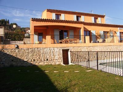 Photo for near Cannes and Antibes, typical provencal villa with pool, quiet and sunny