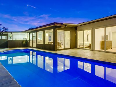 Hip Mid-Century Modern With Pool & Game Room
