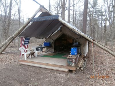 """Photo for """"SPRING  CAMPIING at its Best   Private HEATED Wilderness Camp on 12 acres"""