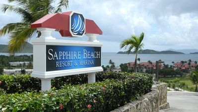 Entrance to Sapphire Beach Resort