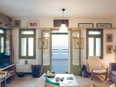 Photo for Plori house, Relax in a comfortable house with unobstructed view of Aegean Sea