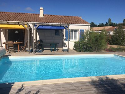 Photo for Villa with private heated pool 3 bedrooms La Chaize Giraud / Brétignolles (Vendée)