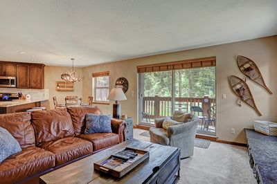 Tyra Summit A2A - a SkyRun Breckenridge Property - Cozy living room with walk out private porch