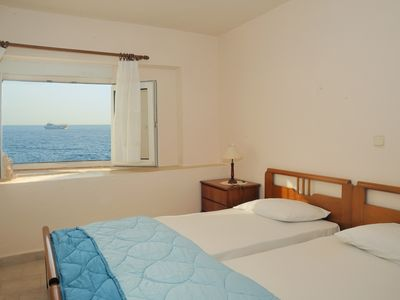 Photo for By the sea apartments 3, literally on Agios Andreas beach in Ierapetra, Crete