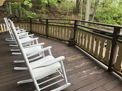 Enjoy the rockers from the deck while taking in the scenery.