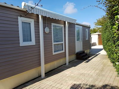 Photo for Mobile home air conditioned 2 rooms in camping 5 stars by the sea