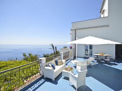 Photo for VILLA WITH STUNNING VIEW TERRACE 10 MINS AWAY FROM THE BEACH