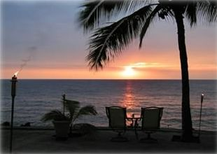 The sun sets on another perfect day in paradise...your patio/lanai!