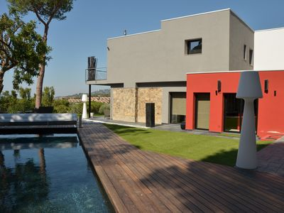 Photo for BEAUTIFUL HOUSE SEA VIEW, SWIMMING POOL WITH HEATED SALT