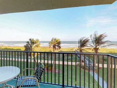 Photo for Peaceful oceanfront condo w/ shared pool moments from beach, pier, & more!