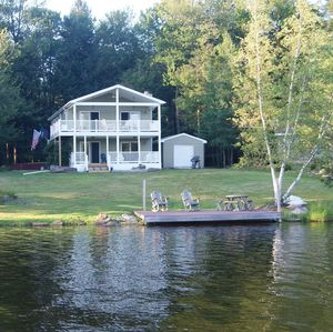Waterfront with spectacular views of the lake, wildlife and mountains