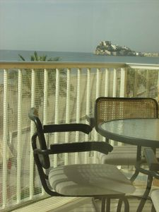 Photo for Apartment with views of Peñíscola beach and castle on the first line.