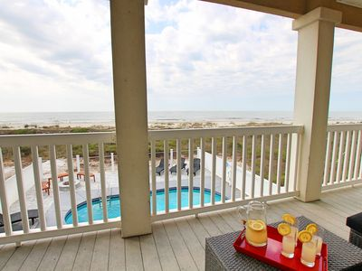 Photo for Gulf-front, great views, private pool, fire pit