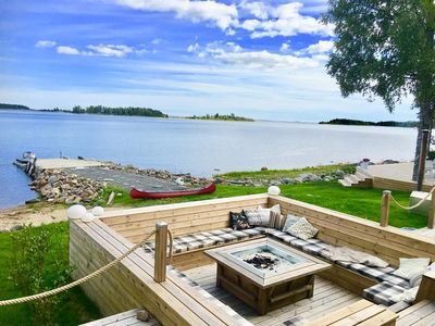 Photo for Luxurious seafront villa with table tennis, jacuzzi, mini-tennis court & sauna