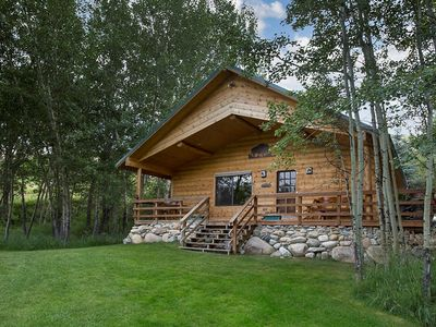 Photo for Buffalo Cabin with 13+. magnificent acres sculpted into 5 aerated fishing ponds