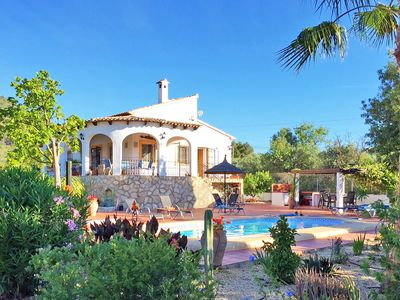 Photo for BEAUTIFUL Private villa with pool in Jalon Valley