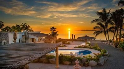 Photo for New Beach Front Home: Amazing Pool, Outside BBQ Grill- Watch the ships come in!