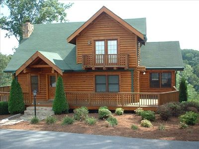 Photo for Scenic Log Cabin on 12 Acres