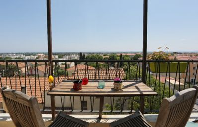 Photo for Large duplex apartment in quiet with panoramic sea and islands of Hyères.