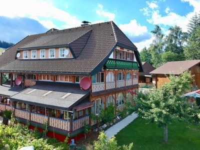 Photo for Beautiful apartment in the Black Forest with conservatory and tiled stove