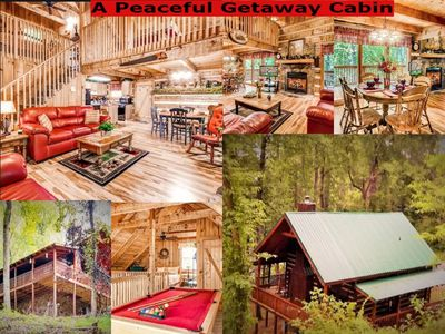 Photo for AUG. & SEPT. STAY 3 NTS GET 4TH 1/2 OFF! CLOSE TO PKWY, HOT TUB WIFI