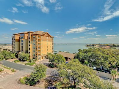 Photo for Stylish Corner Condo with Incredible Views of Lake LBJ with large outdoor patio