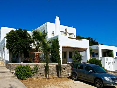 Photo for Sea view apartment +priv. parking in Paros, Greece