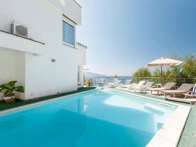 Photo for Amazing sea view ,pool,really close to the beach