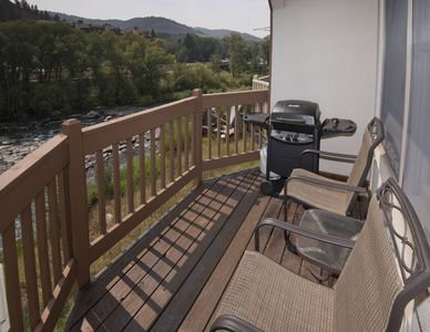 Photo for Great Avon Location! Condo w/ River Views, Free Town Shuttle Access to Slopes