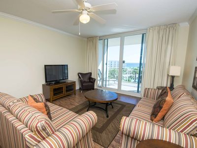 Photo for Beachfront Condo with Complimentary Beach Service! Private Balcony and Awesome R