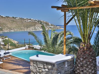 Photo for Villa Athena, Mykonian style villa with sea view and swim spa pool by Elite Estates.