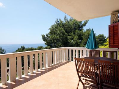 Photo for Two bedroom apartment with terrace and sea view Sveta Nedilja, Hvar (A-110-a)