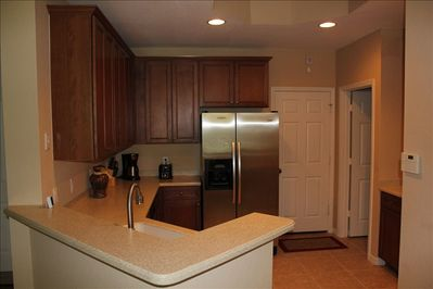 Beautiful Kitchen with Stainless Steel Appliances -- Dishwasher not shown.