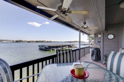 Waterfront views from our deck