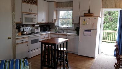 Kitchen space with free standing island