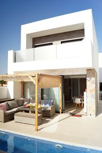 Photo for Villa for 6 peopleprivate swimming pool - Beach 1.5 km. - Center 600 mtr - Wifi - Bicycles