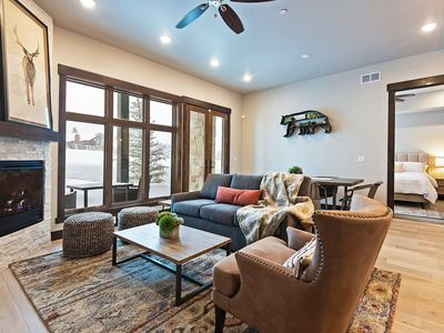 Photo for NEW LISTING! Brand new condo w/ mountain view, shared hot tub/pool and more!