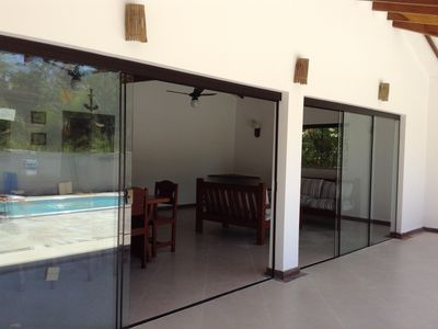 Photo for House 100 meters from the beach with all the fun, in a gated community.