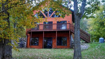 Photo for Exceptional Log Home on Beautiful Lake,