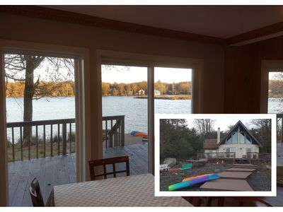 Photo for Newly Renovated Lakefront Chalet Gorgeous Views, 4 bedrooms