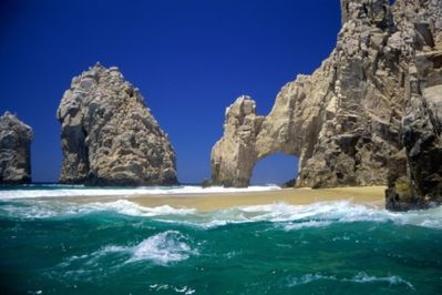 Lovers Beach at famous El Arco. Take 10 min. water taxi ride from Medano beach