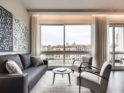 Photo for NEW: Ponte Vecchio Suite with balcony on Arno river!