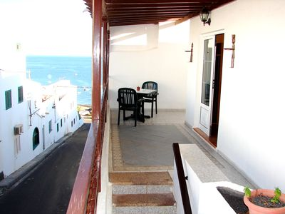 Photo for Sea views. Large terrace. Beach only 2 minutes .. WIFI FREE.
