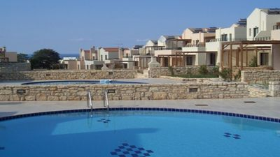 Photo for Holiday villa, close to the beach, with swimming pool and mountain views