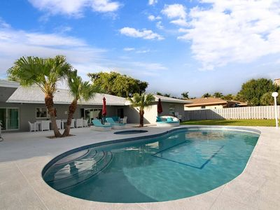 Photo for Waterfront Estate -5 BR w/pool- 5 min to beach